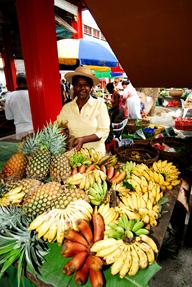 Fruit Seller in Seychelles