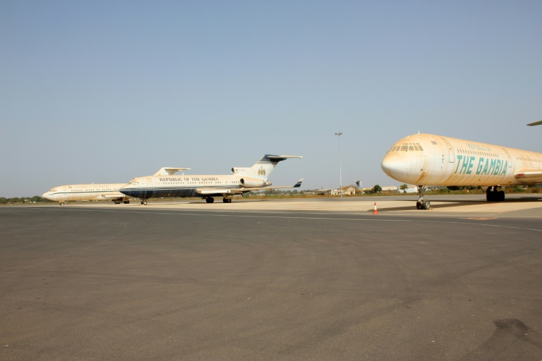 Jammeh's Planes on Tarmac at the Banjul Airport