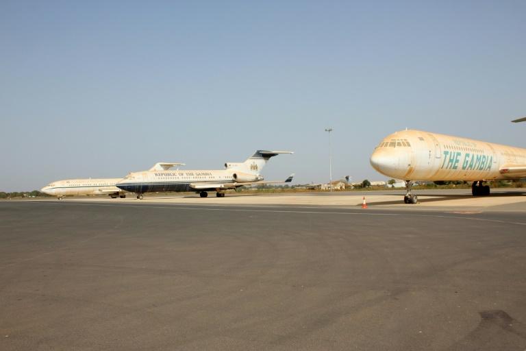 Jammeh's Planes on Tarmac at the Banjul Airport