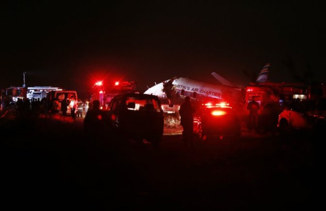 1 KILLED AND 20 INJURED AS CHARTERED PLANE CRASHES IN SOUTH AFRICA