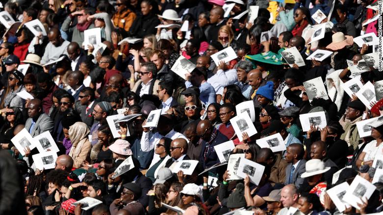 Attendees at the Obama Speech in SA