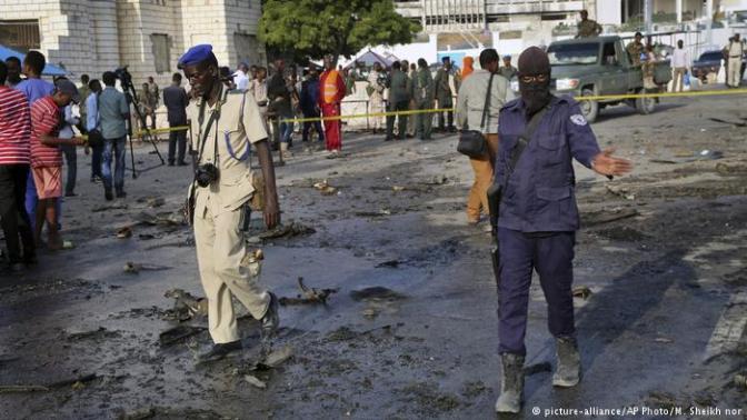 CAR BOMB EXPLODES IN SOMALIA'S CAPITAL