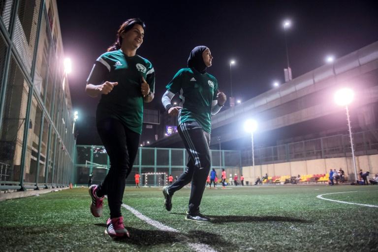 Egyptian female footballers