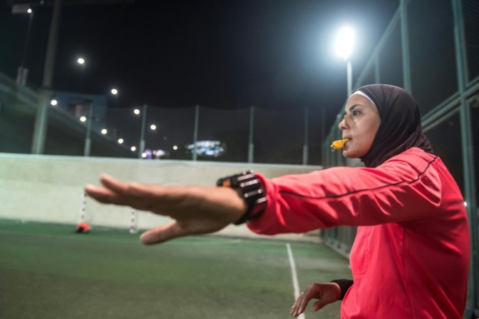 EGYPT'S WOMEN FOOTBALL REFEREES PUSH FOR LEAGUE PROMOTION