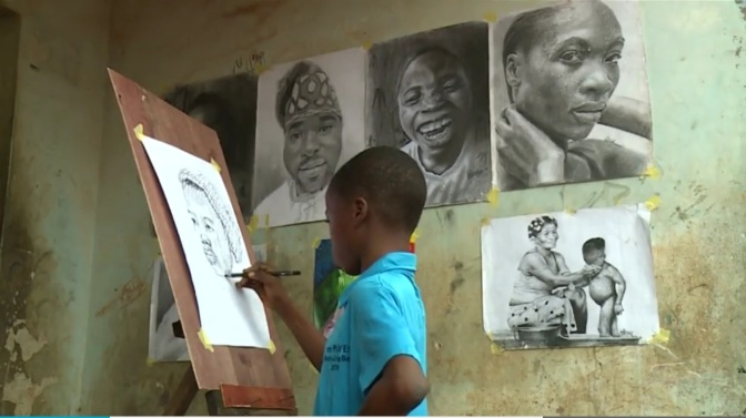 NIGERIA'S 11 YEAR OLD ART GENIUS ATTRACTS GLOBAL ATTENTION